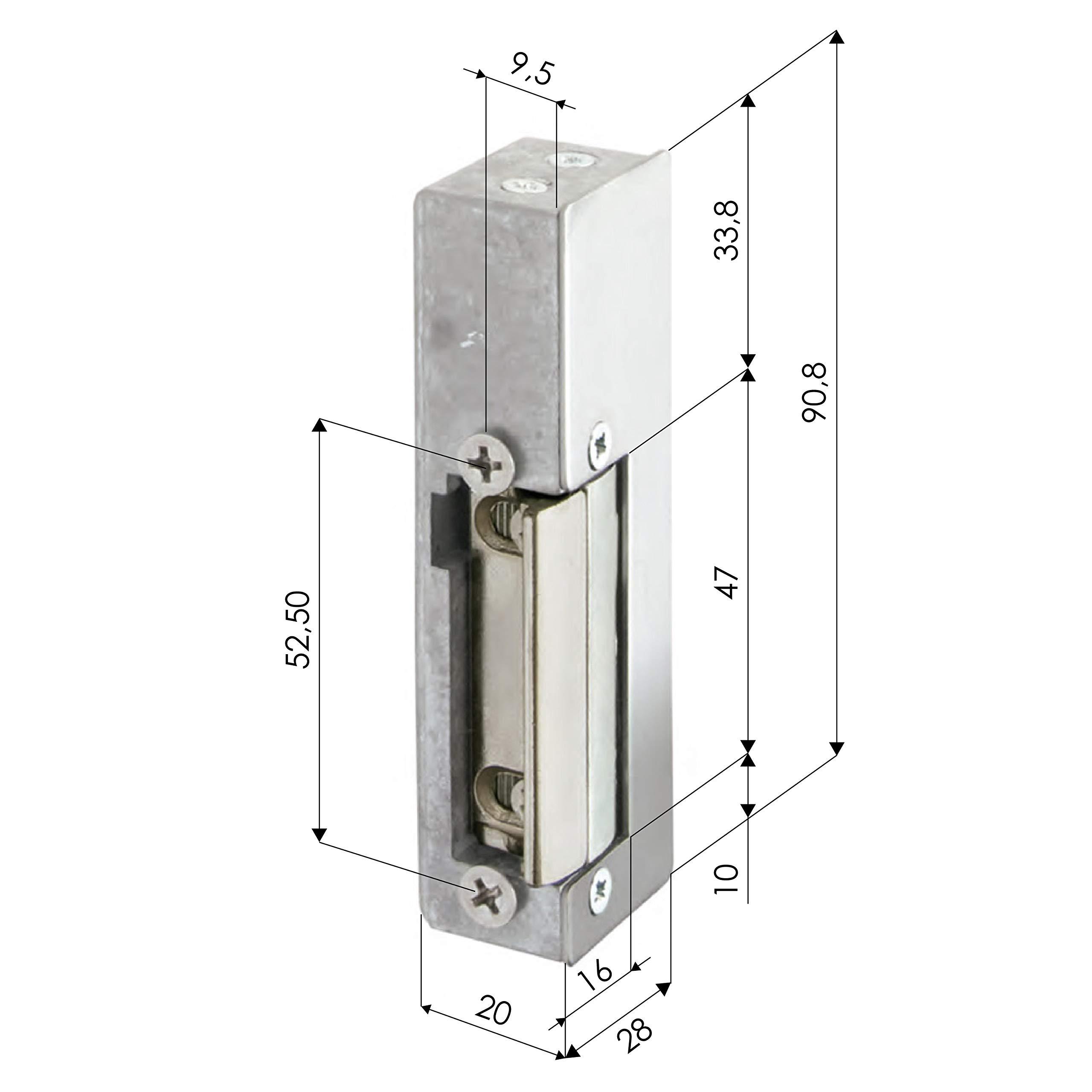 Cerradura eléctrica - V AC - ZKTeco 3002 - Abrepuertas ajustable ...