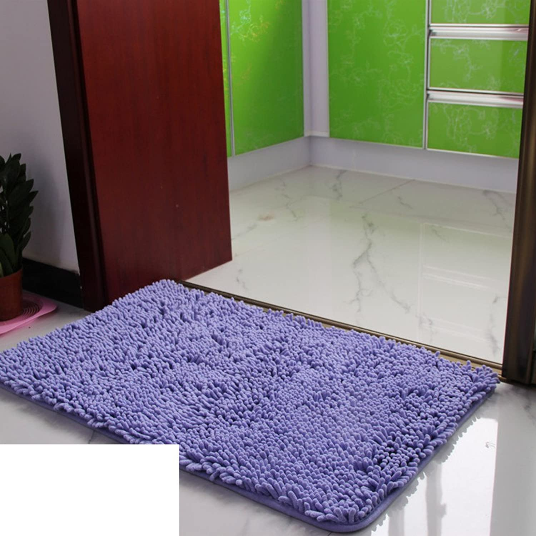 Chenille mat Doormat Bathroom Bathroom Anti-Slip mat Floor mat Kitchen Absorbent Non-Slip mats-K 60x160cm(24x63inch)