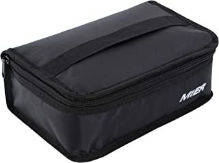MIER Portable Thermal Insulated Cooler Bag Mini Lunch Bag for Kids, Black