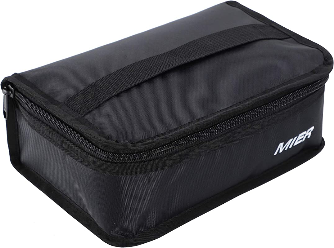 MIER Portable Thermal Insulated Cooler Bag Mini Lunch Bag For Kids Black