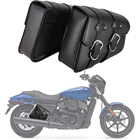 Motorcycle bag 1 Pair Black Saddlebags Throw Under Seat Side Tools Pouch for Harley Davidson Cruiser Motorbike bag