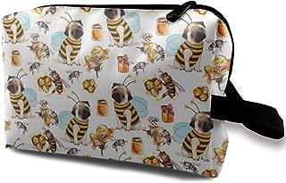 Bulldog Bee, Cosmetic Bag Toiletry Bag Travel Portable Makeup Pouch Large Hanging Organizer Bag for Women Men