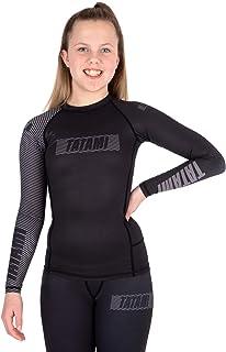 Tatami Fightwear Kids Essential 3.0 Long Sleeve Rash Guard - Black & Grey Gym, Workout, Jiu Jitsu, Grappling, BJJ, MMA