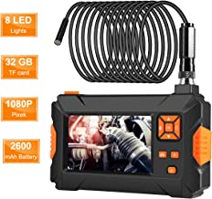 "ROTEK Industrial Borescope,1080P Inspection Camera with 4.3""Color Screen,IP67 Waterproof Endoscope with 8 LED Lights,2500mAh Built-in Battery and 32GB SD Card"