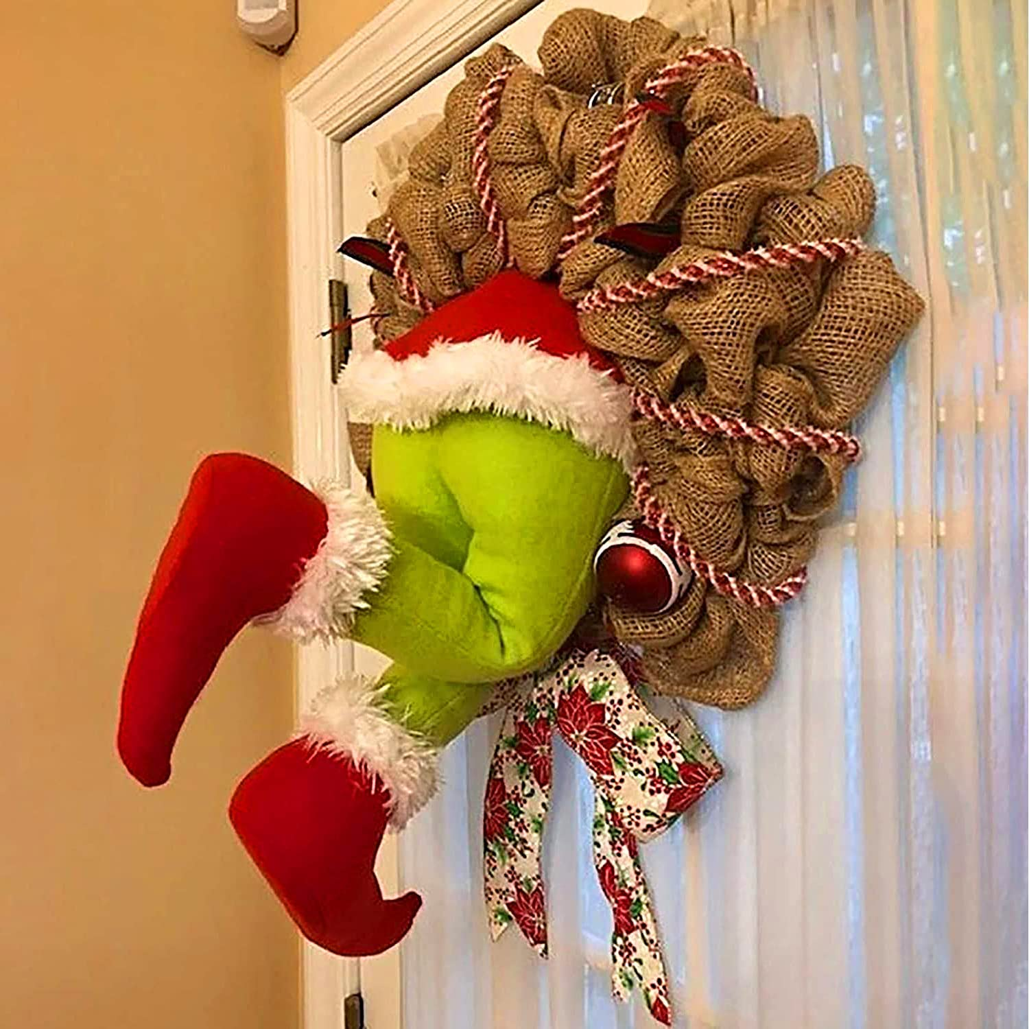 GJGBIVI The Thief Christmas Easy-to-use Wreath Gifts Stole Grinch Christm How