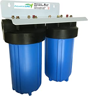 """Aquatic Life Two-Stage 10"""" x 4.5"""" Whole House Water Filtration System, 3/4"""" NPT"""