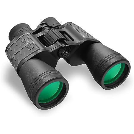 LTOOL 双眼鏡 高倍率 10x50 窒素充填防水防曇 高性能プリズムBak4搭載 めがね対応 手ブレない 目が疲れにくい 人気 双眼鏡 コンサート 野鳥観察 狩猟 観戦 スポーツ(スーツケ スとネックストラップ付き