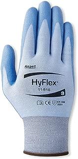 11-518 ANSELL SIZE 11 HYFLEX ULTRA LIGHT DUTY CUT RESISTANT SPANDEX NYLON DYNEEMA PU COATED GLOVES BLUE - CAT II - EN388-3331