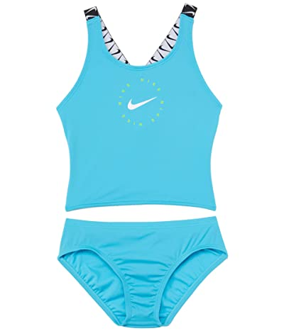 Nike Kids Nike Logo Tape Cross-Back Tankini Set (Little Kids/Big Kids)