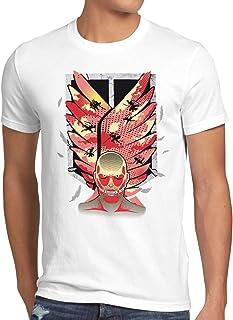 style3 Attack Wings Herren T-Shirt Aufklärungstruppe AOT