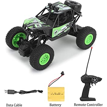 CADDLE & TOES Remote Controlled Monster Like Model Sports Car and Remote Opening Doors and Remote with Toy (Green)