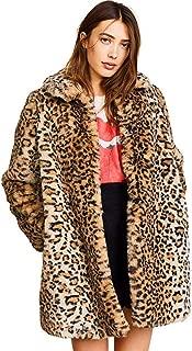 leopard fur coat faux