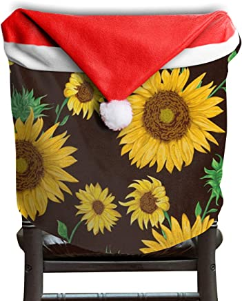 be0a30fb9b OuLian Santa Hat Chair Covers Hello Vintage Sunflowers Chairs Back Cover  Slipcovers Kitchen Sets for Party