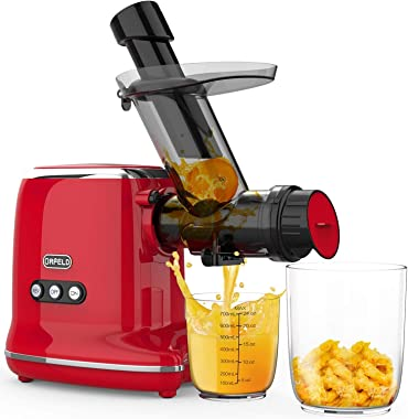 Juicer Machines, ORFELD Slow Masticating Juicer Extractor with 3inch Wide Feed Chute & Easy to Clean , Cold Press Juicer With
