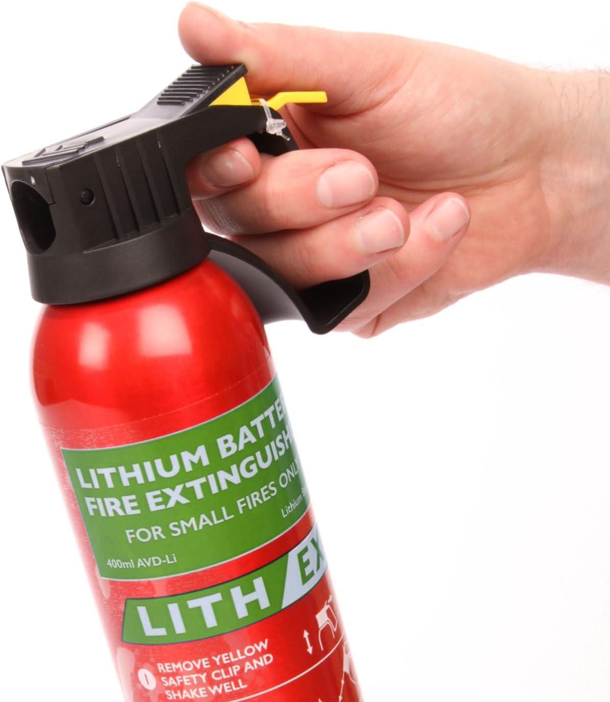 Fire Champion – lith-ex – Batteria al litio estintore – 400 ml – 3-in-1  casa/auto/ufficio mini estintore : Amazon.it: Fai da te