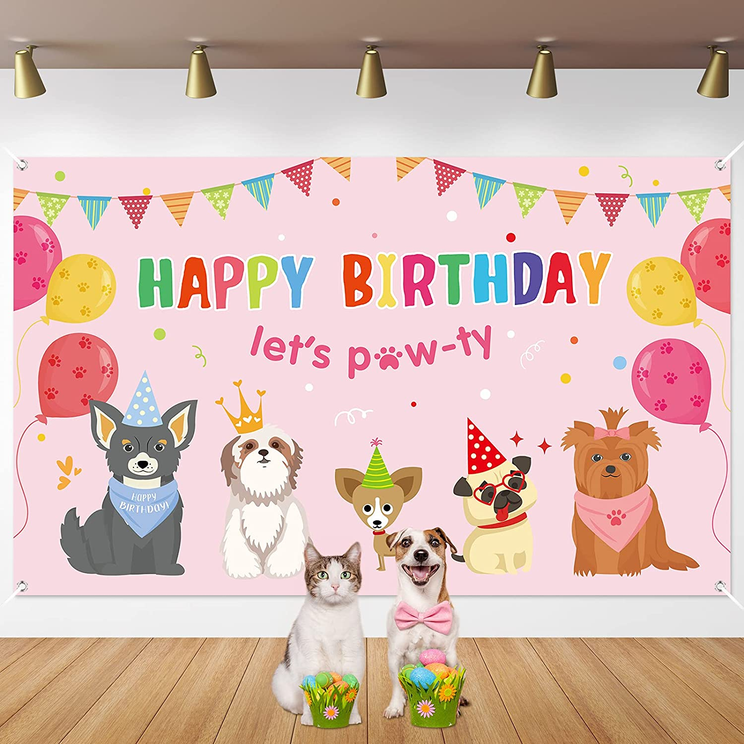 Dog latest Girl Party Decorations Puppy Cheap mail order specialty store Pink Birthday Themed