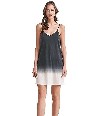 Skin Organic Pima Cotton Ombre Slip (Black/Light Tapioca) Women