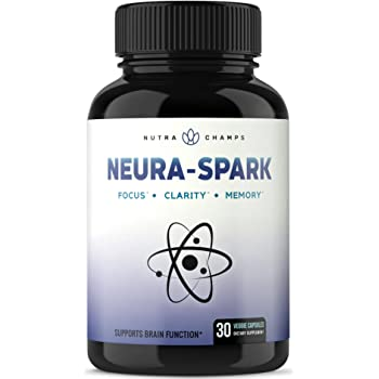 Premium Brain Supplement for Focus, Memory, Energy, Clarity - Nootropic Brain Booster Scientifically Formulated for Optimal Mental Performance - Ginkgo Biloba, St John's Wort, DMAE, Rhodiola & More