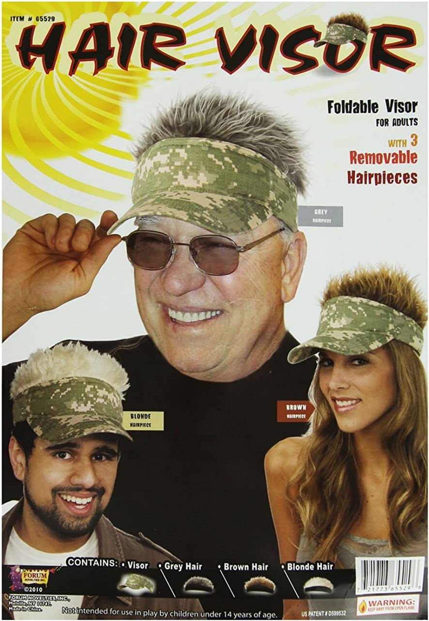 Forum Novelties Unisex 70's Style Visor with Spiky Hair
