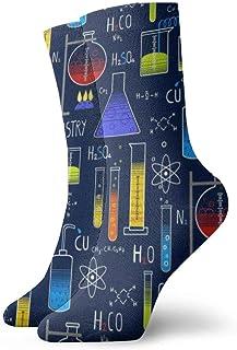 tyui7, Clase de ciencias Biología temática Química y física Protones Calcetines de compresión antideslizantes Cosy Athletic 30cm Crew Calcetines para hombres, mujeres, niños