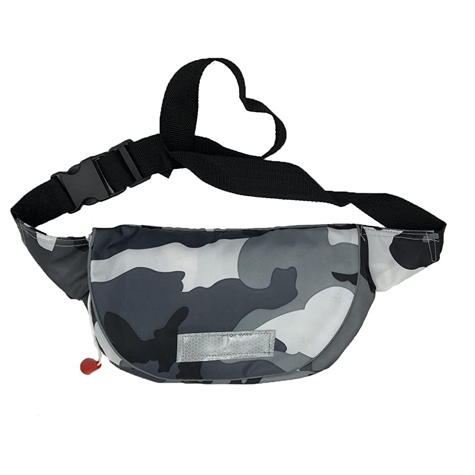 地上で鉄道溶けたQuoll CE認証済 ライフジャケット 救命胴衣 バッグタイプ 瞬時に膨らむ 手動膨張 ボンベ 釣り 4色から選択
