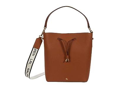 LAUREN Ralph Lauren Classic Pebble Debby Drawstring Large (Lauren Tan) Handbags