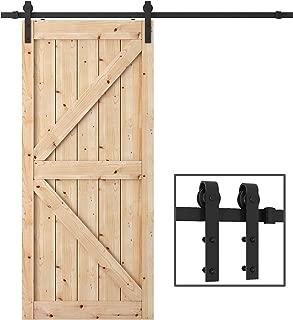PENSON & CO. PBD001 FBA_SDHA023BK Sliding Barn Door Hardware Set Black 6.6 FT-Antique Style