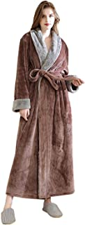 L/&L Vestido de Bata con Capucha para Damas. Extremadamente Ligero 9143 Albornoz Suave de Manga Larga para Mujer