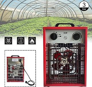 Calefactor eléctrico portátil portátil de Aufun, calefactor portátil con 3 niveles de calor para taller, camping, garaje 3KW