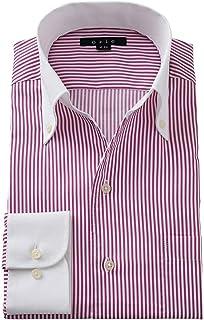 [オジエ] ozie【メンズ?ワイシャツ?カッターシャツ】長袖?スリム?イタリアンカラー?スキッパー?クレリック G09A