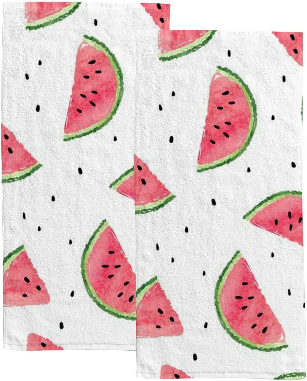 Summer Watermelon Fruit Hand Towels New Shipping Free Set Bathroom T 2 for NEW before selling Kitchen