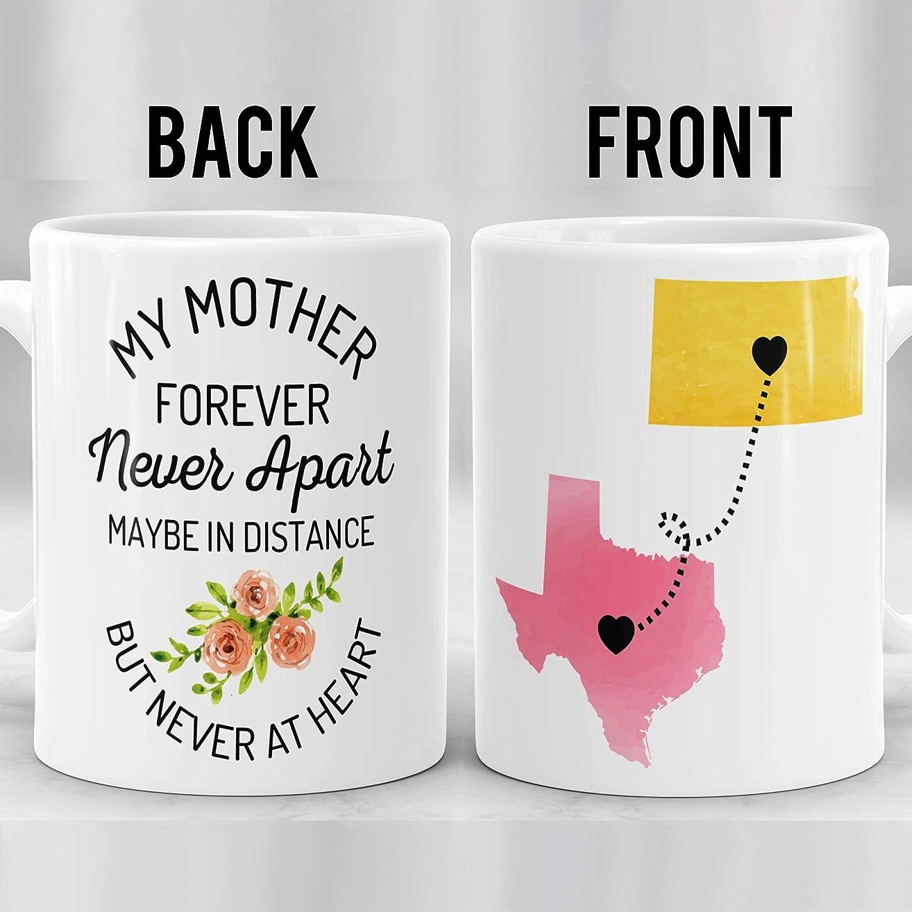 Gift For Mom, Long Distance Mug For Mother, Mother's Day Map, State to State Mug, Gift for Mother's Day, Mom Mug, Birthday Gift for Mom