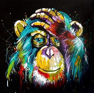 Malen nach Zahlen Lustige Tiere Affe mit Kopfhörer