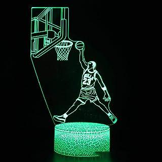 Cartoon Stitch 3D Illusion Lamp LED Night Light Vision Kobe Bryant Figure Desk Lamp Decorations Celebrity Black Mamba Spir...