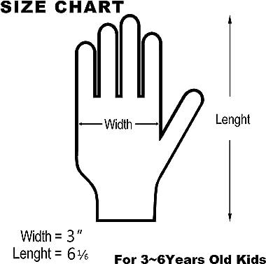 Kids Garden Gloves - PROMEDIX P - 3-6 Years Old Children Gardening Gloves, 2- Pair Pack,Pink