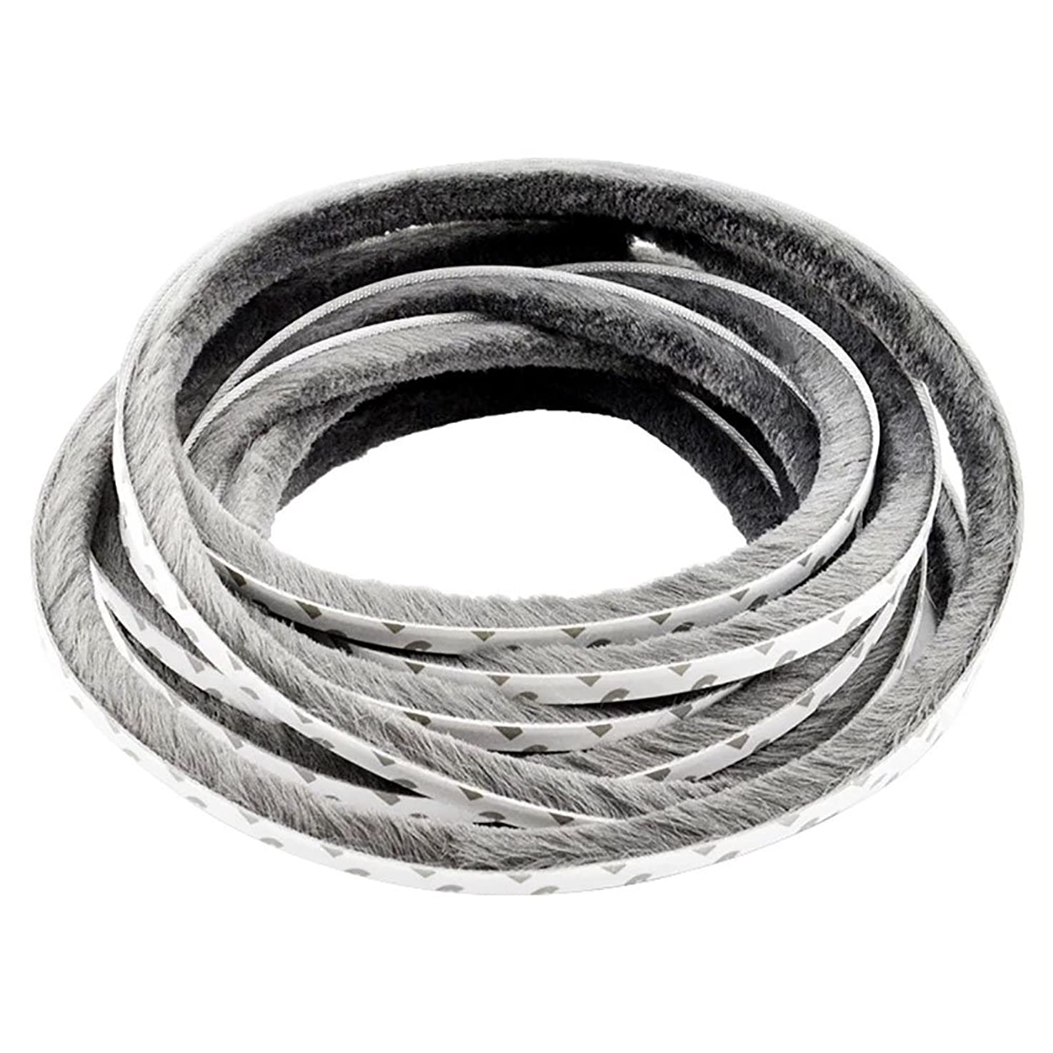 T&B Self-Adhesive Pile Weatherstrip for Windows & Doors 3/8 in. W x 1/4 in. H Grey 12m (39.3ft)