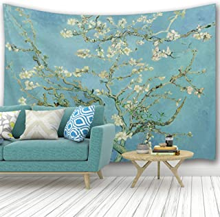 PROCIDA Home Wall Hanging Nature Art Polyester Fabric Van Gogh Theme Tapestry, Wall Decor for Dorm Room, Bedroom, Living Room, Nail Included - 90