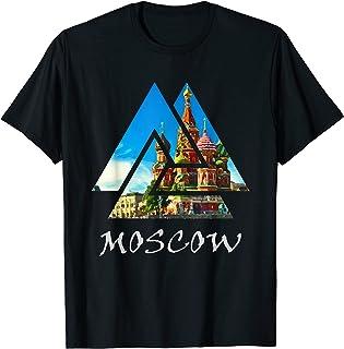 Moscow Kremiln, Russia Triangle T-Shirt, Russia Travel T-Shirt
