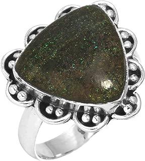 Natural Honduran Black Matrix Opal Gemstone Designer Jewelry Solid 925 Sterling Silver Ring Size 9