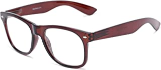 Readers.com Reading Glasses: The Dean Reader, Plastic Retro Square Style for Men and Women