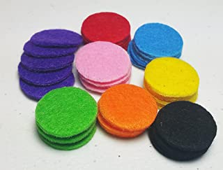 AromaRain 40-Count (24mm) Premium Essential Oil Pads (8 Colors) - Refill and Replacement Essential Oil Necklace Pads For Aromatherapy