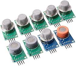 CJRSLRB Gas Detection Module MQ-2 MQ-3 MQ-4 MQ-5 MQ-6 MQ-7 MQ-8 MQ-9 MQ-135 Sensor Module Each of Them 1pcs total 9pcs Sensor kit