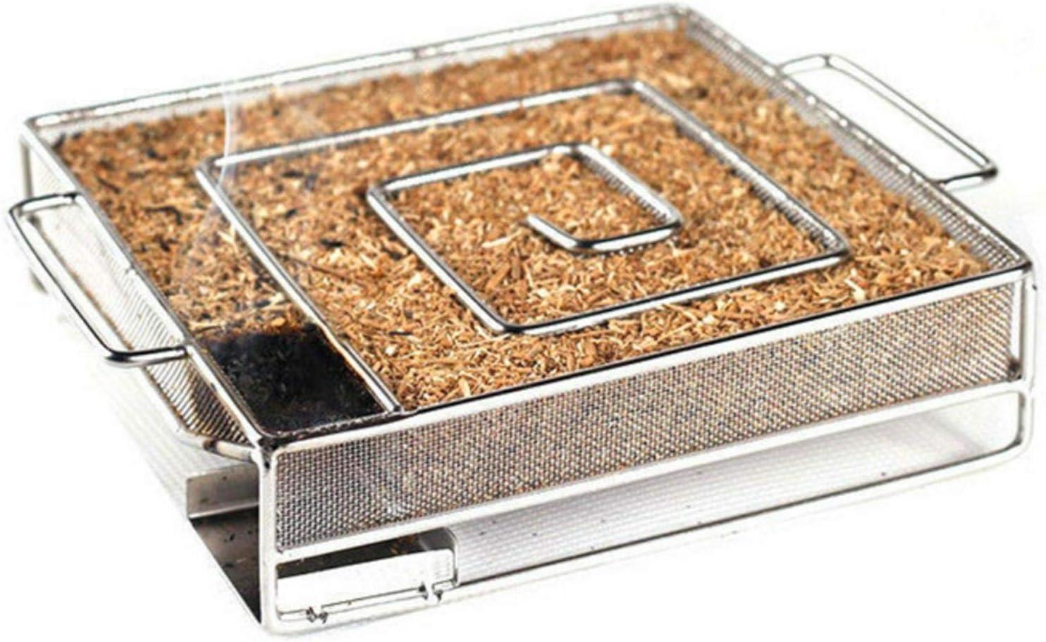 Kaltr/äuchern BBQ Quadrat Dream-cool Kaltraucherzeuger Quadrat Kaltrauchgenerator Edelstahl Kaltraucherzeuger F/ür Grill Smoker Kugelgrill Kaltr/äuchern Und R/äucherofen