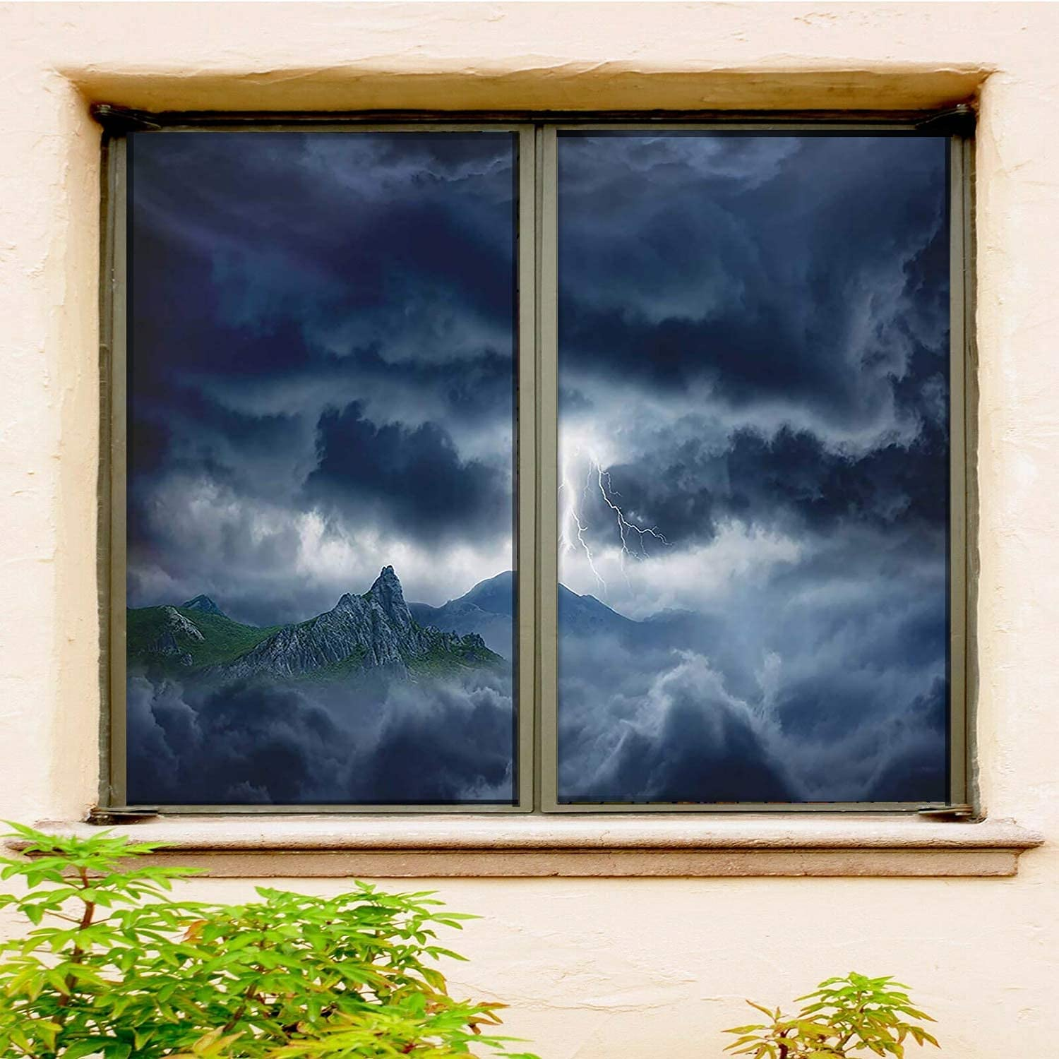 Nature High quality new Office Window Film Self-Adhesive 2 PCS Fi New mail order Blue Set