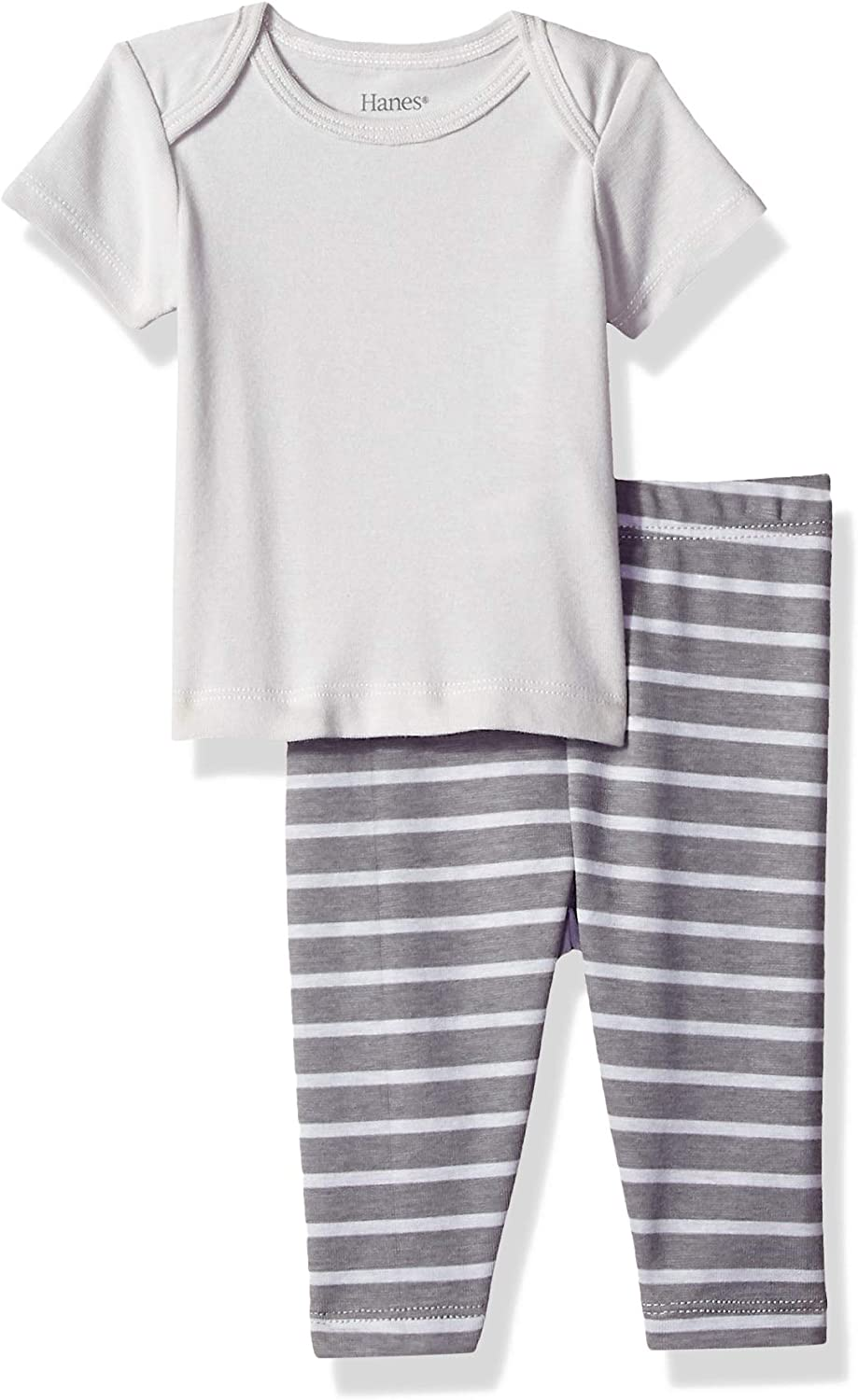 Hanes Ultimate Baby Flexy 2 Piece Set (Pant with Short Sleeve Crew Tee)