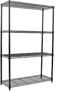 Finnhomy Heavy Duty 4-Tier Wire Shelving Unit Thicken Pole Adjustable 4-Shelf Steel Wire Shelving Rack Storage Rack 36