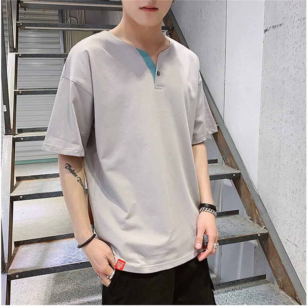 Camiseta para hombre Camiseta de manga corta lisa Casual Tops Joven estudiante flojo Camisas básicas Hip Pop Gimnasio Entrenamiento Deporte Blusa superior (Color : Gris claro , tamaño : METRO) : Amazon.es: Hogar