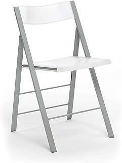 comprar comparacion duehome Silla Plegable sillas taburetes, Color Blanco