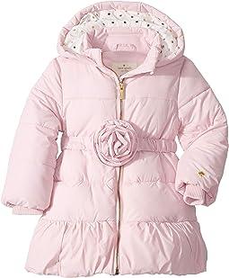 Rosette Puffer Coat (Toddler/Little Kids)