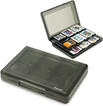 Insten 28-in-1 Game Card Case for Nintendo New 3DS / New 3DS XL/New 3DS LL / 3DS / 3DS XL / 3DS LL/DSi/DSi XL LL/DS/DS Lite/New 2DS XL LL / 2DS Cartridge Storage Solution Box Holder Black